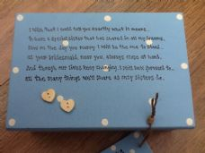 Shabby Personalised Chic Jewellery Box.. for the Bride From Sister Bridesmaid.